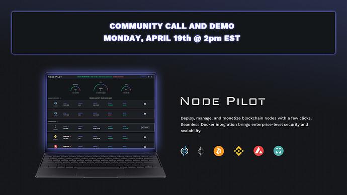 Node Pilot Community Call Splash